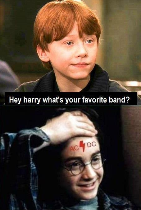 harry potter's favorite band is ac/dc