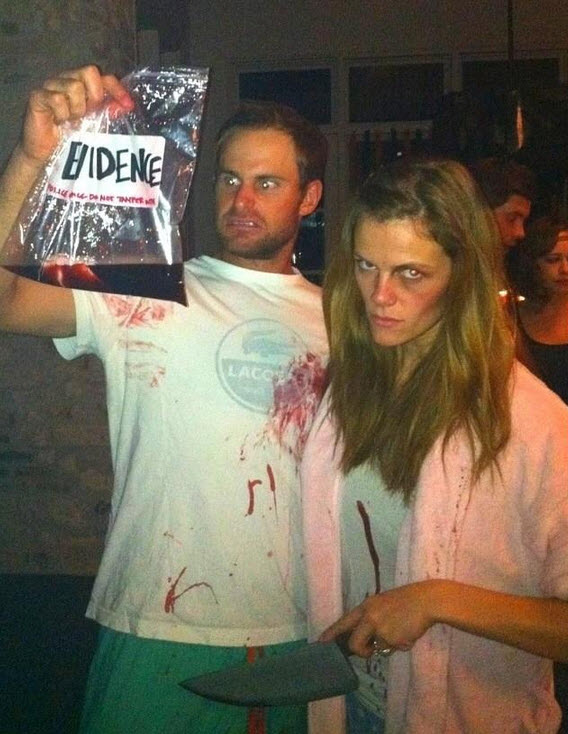 Brooklyn Decker and Andy Roddick costume