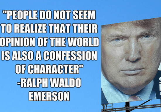"""""""People do not seem to realize that their opinion of the world is also a confession of character"""" -Ralph Waldo Emerson"""