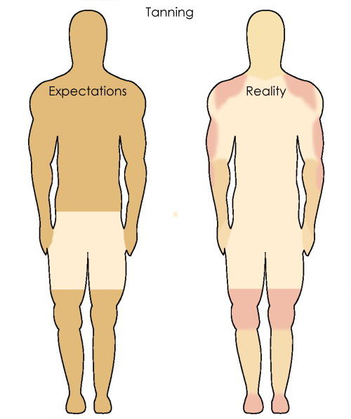 tanning expectations vs reality