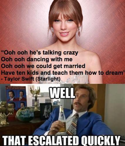 Taylor Swift Starlight lyrics