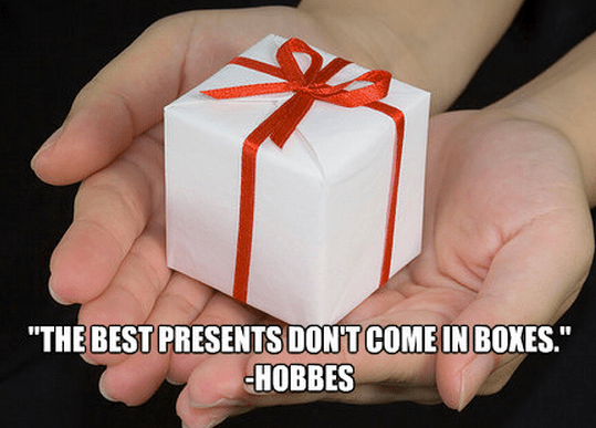 """""""The best presents don't come in boxes."""""""
