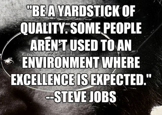 """Be a yardstick of quality. Some people aren't used to an environment where excellence is expected."""