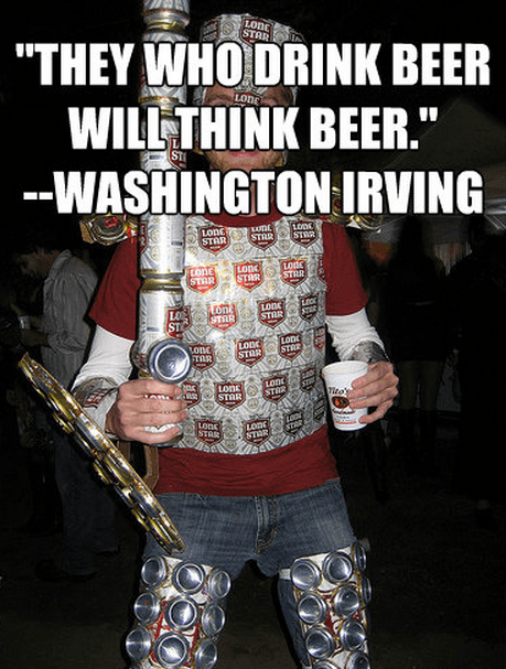"""They who drink beer will think beer."""