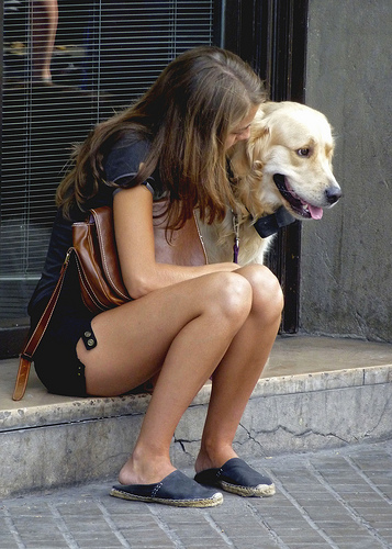 Tumblr/Cute Girls With Dogs