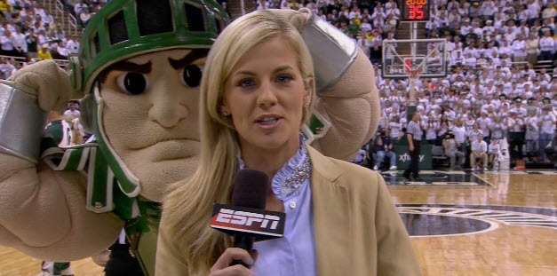 Sparty photoboms Samantha Ponder