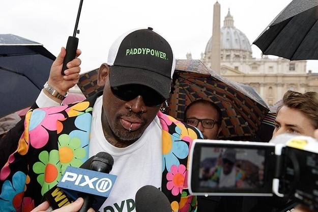 Dennis Rodman pope