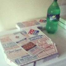 pizza and sprite