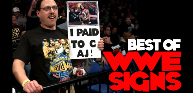 best wwe fan signs