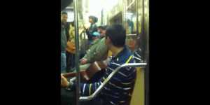 Old man has had enough of NYC subway performers