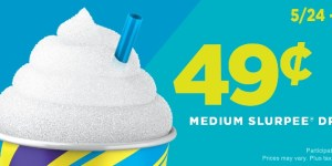 49¢ Slurpees all weekend at 7-Eleven!