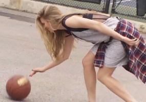 Brit Marling basketball