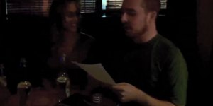 Guy writes poetry for strangers at a bar because that's not weird at all