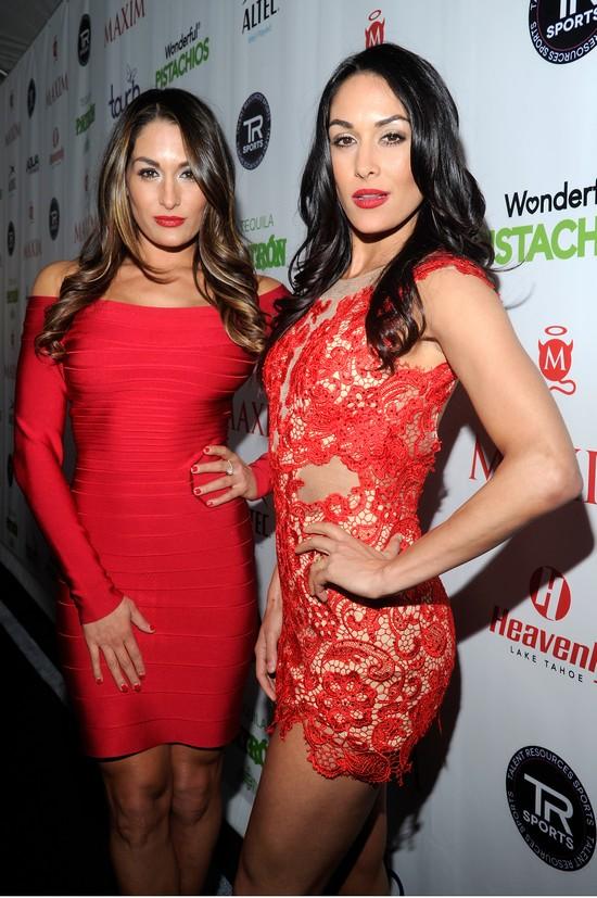 Sarah Shahi  Bella Twins and more babes at the Maxim Super Bowl partyJaclyn Keys Maxim
