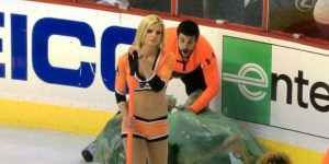 Flyers Ice Girl's milkshake brings all the boys to the rink