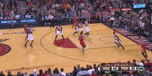 Jeremy Lin didn't travel on this play, but it certainly looked like he did