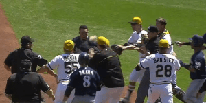 Carlos Gomez Admired a Triple, Leading to a Benches-Clearing Brawl and a Sucker Punch