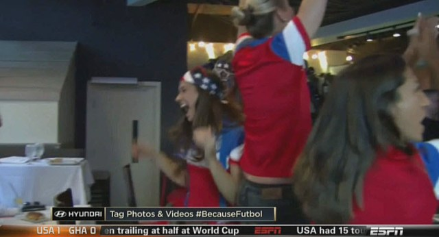 Alex Morgan celebration