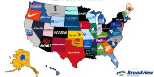 Map Shows Largest Company By Revenue in Each State. If That's, Like, Something You're Interested In