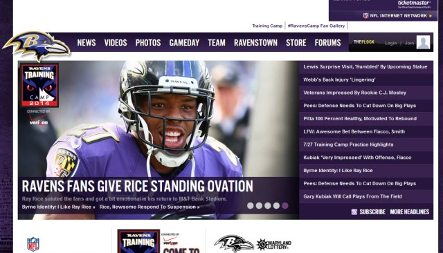 Baltimore Ravens website