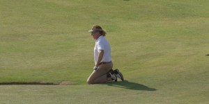 Miguel Angel Jimenez dry humped a bunker at the British Open