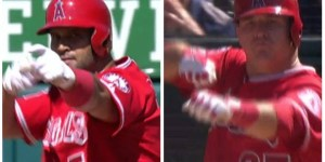 Mike Trout and Albert Pujols just trolled Fernando Rodney so damn hard