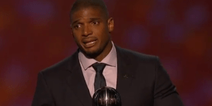 Michael Sam Delivered an Emotional Speech After Winning the Arthur Ashe Courage Award