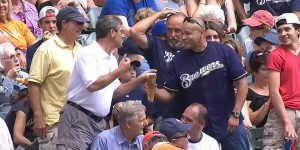 Milwaukee Brewers Announcers Buy a Beer for Fan Who Lost One During Wild Scramble for Foul Ball