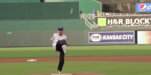 Armless Man Throws Out First Pitch With Feet