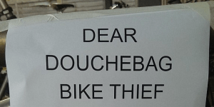 Bro Gets Bike Stolen, Writes A 'Dear Douchebag' Letter That Says There's A GPS In The Bike Frame