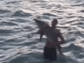 Noodlin' For Sharks: Man Jumps In The Ocean And Pulls Shark Out With Bare Hands