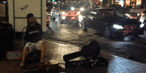 Street Guitarist Shreds Even Though He's Missing Two Very Important Things — His Arms!