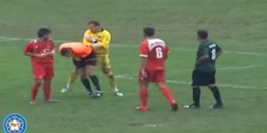 Bosnian Goalkeeper Tries To Destroy Referee With Punch To Head, Just Misses