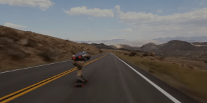 This Is What It Looks Like To Bust Ass And Eat Pavement Going 65MPH On A Skateboard