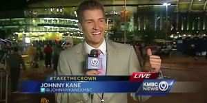 Kansas City Royals Bro Terrified A Reporter On Live Television With A Sneak Attack