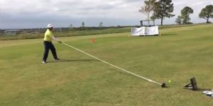 Dude Sets World Record By Driving With A 20-Foot Golf Club