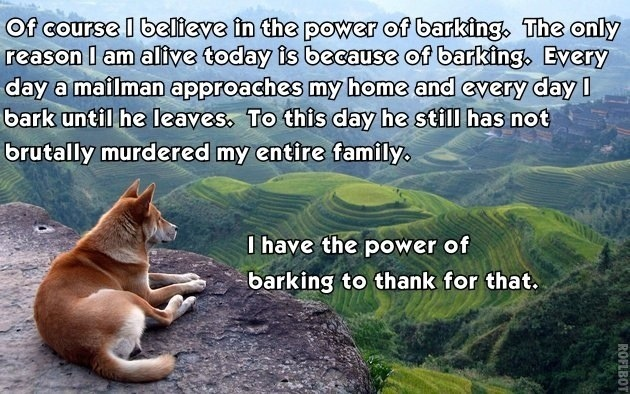 The Picture Jokes thread The-power-of-barking-motivational-quote