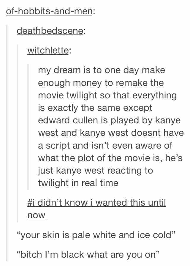 More accurate than OCEAN Quiz... the Kayne quote quiz Tumblrs-best-movie-kanye-twilight