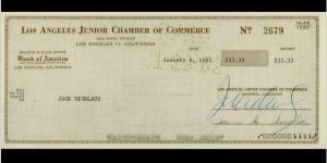 This Measly Check Was The First Of Jack Nicklaus' Pro Golf Career And He Received It Exactly 53 Years Ago Today