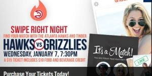 The Atlanta Hawks Are Having A Tinder Night On Wednesday