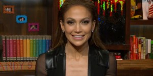 Jennifer Lopez Showed Off An INSANE Amount Of Cleavage On 'Watch What Happens Live'