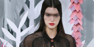 Kendall Jenner Walked The Runway At Paris Fashion Week In A Semi-See-Through Top