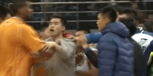Former NBA Players Brawl On And Off Court, Throw Chairs During Chinese Basketball Playoffs