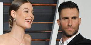 Adam Levine Deprived The World Of A Behati Prinsloo Nip-Slip At An Oscars After Party