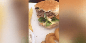 What The Hell Is Slithering Around In This Guy's Burger?