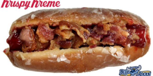 I Present To You The First Krispy Kreme Donut Hot Dog Bun With Bacon-Covered Hot Dog