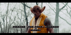 SNL: The Rock Is A Ferocious Gun-Toting Deer And His 'Furious 7′ Co-Stars Join Him In Live-Action Remake Of 'Bambi'