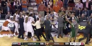 Fight Breaks Out in Baylor-Texas Game, 7 Players Ejected