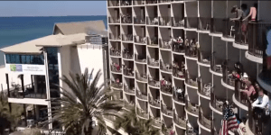 Watch Hungover Spring Breakers Wake Up To 'The Circle Of Life' Being Blasted Over This Hotel's Pool Speakers