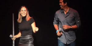 Watch Miami Heat Coach Erik Spoelstra And His Smoking Hot Girlfriend Nikki Sapp Sing 'Billie Jean'